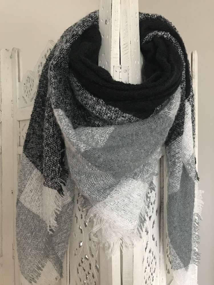 7b7a106ce06c87 XXL Schal, grau/weiß/schwarz - MELLMIE boutique . fashion . concept ...