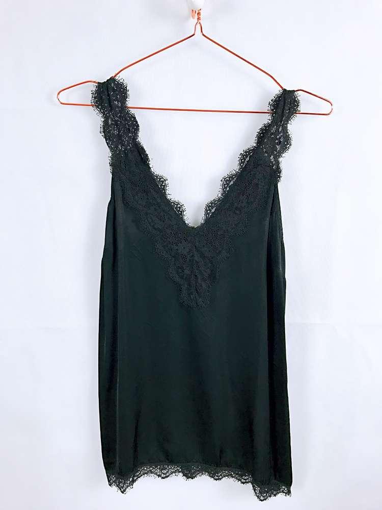 außergewöhnliche Auswahl an Stilen und Farben Bestbewertet authentisch Online-Verkauf Seidentop mit Spitze, schwarz - MELLMIE boutique . fashion ...
