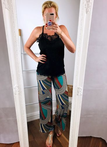 Slouchy Culotte mit Print