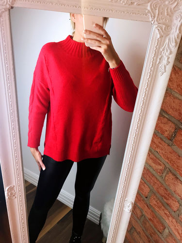 "Strickpullover ""Cozy"", rot"
