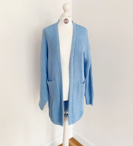 "Longcardigan ""Colour"", blau"