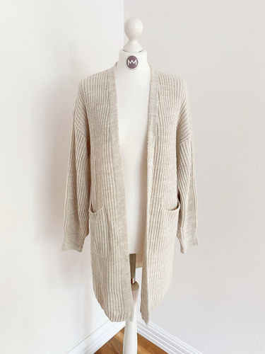 "Longcardigan ""Colour"", beige"