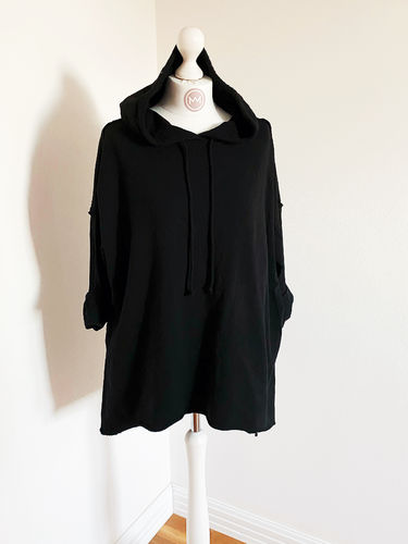 "Hoodie ""Perfect long"", schwarz"