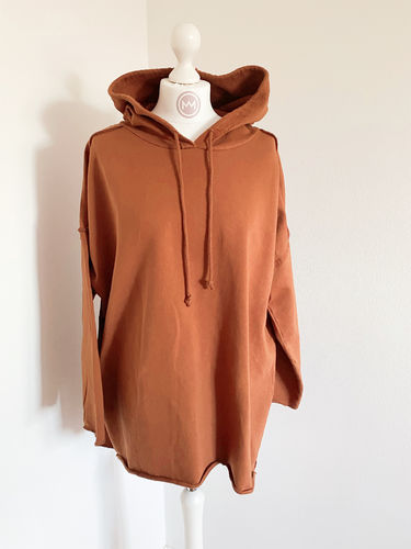 "Hoodie ""Perfect long"", cognac"