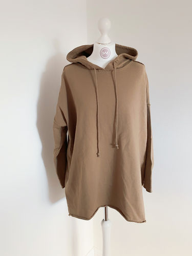 "Hoodie ""Perfect long"", braun"